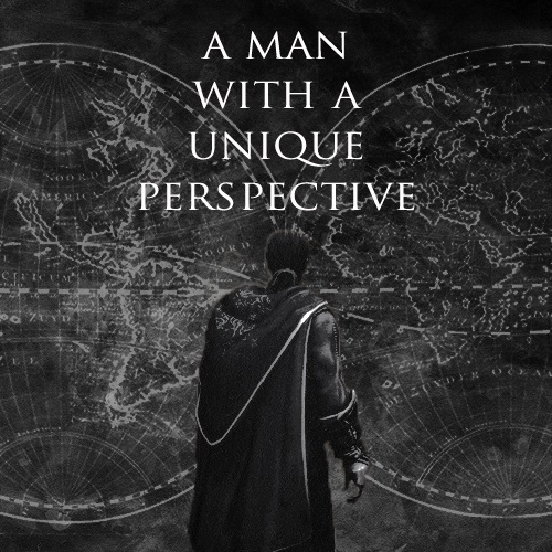 a man with a unique perspective