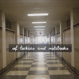 of lockers and notebooks