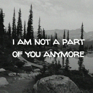 i am not a part of you anymore