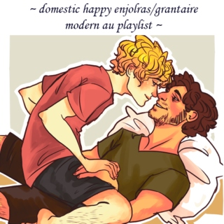 a HAPPY enjolras/grantaire modern au mix!