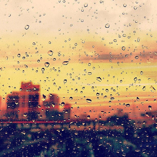 it rains when you're here, and it rains when you're gone