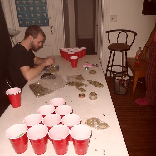 honey jack and beer pong