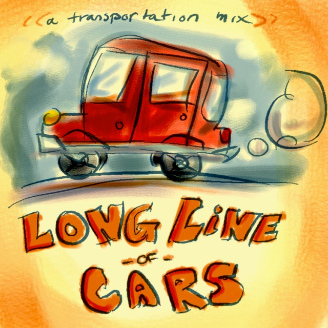 Long Line of Cars: a transportation mix