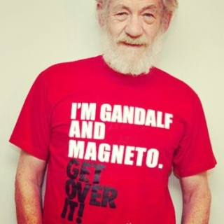Holy Shit, It's Gandalf and Magneto.