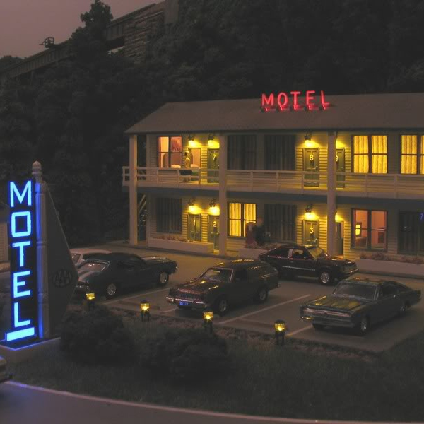 night in an eerie motel