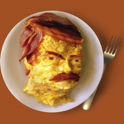 All the bacon and eggs you have.
