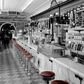 Diners and Old Time Ice Cream Parlors