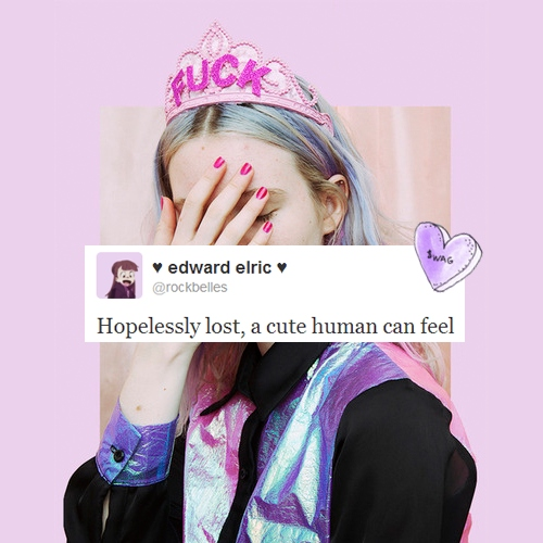 hopelessly lost, a cute human can feel