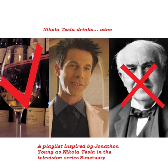 Nikola Tesla drinks... wine