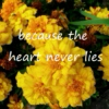 because the heart never lies.