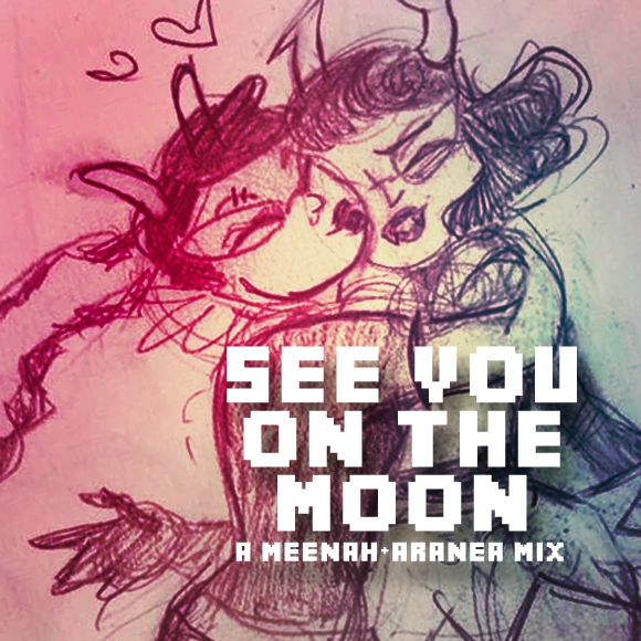 see you on the moon - a meenah/aranea mix