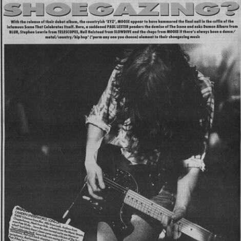 Don't look at your shoes babe! It's just shoegaze...