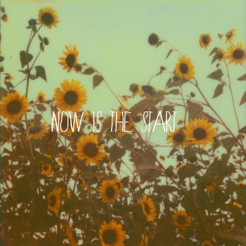 Now is the start