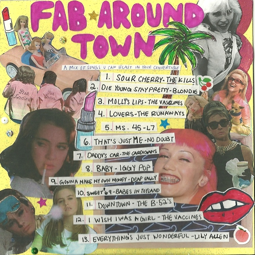 fab around town: a mix of songs u can blast in your convertible