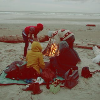indie beach bonfires