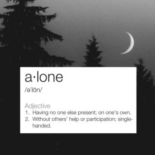 ☹we are alone☹