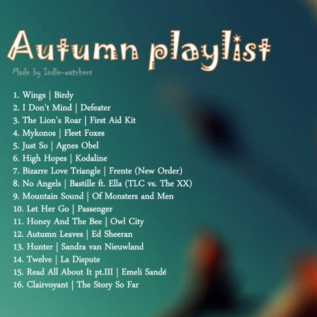 Autumn Playlist 2013