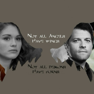 Lydia and Castiel- Winged Hearts