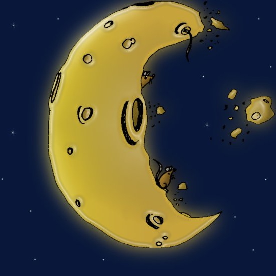 If the moon were made of cheese, would you eat it?