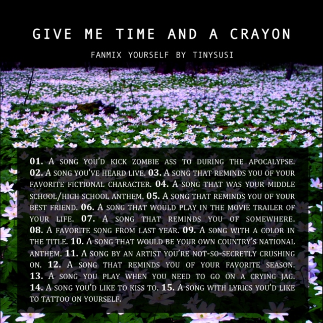 Give me time and a crayon