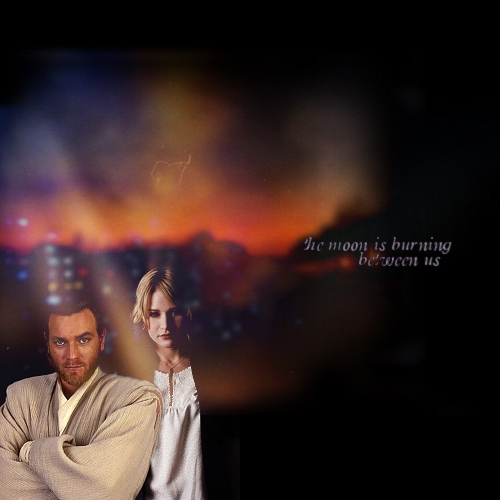 the moon is burning between us - obi-wan/siri