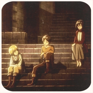 we make our own family: an eren, armin, and mikasa mix
