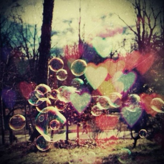 Bubbles And Hearts