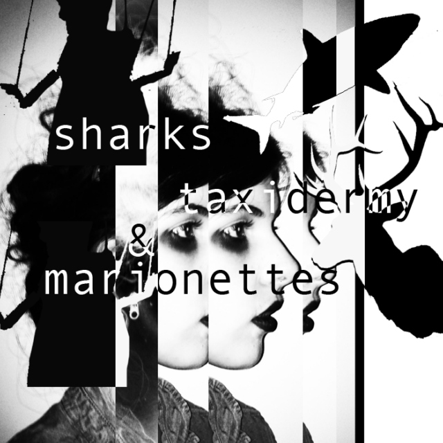sharks, taxidermy, and marionettes