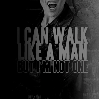 i can walk like a man but i'm not one.