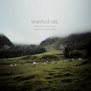 wasted on.