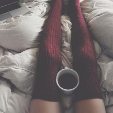 coffee, comforter, books, and dreams