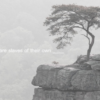all men are slaves of their own ____