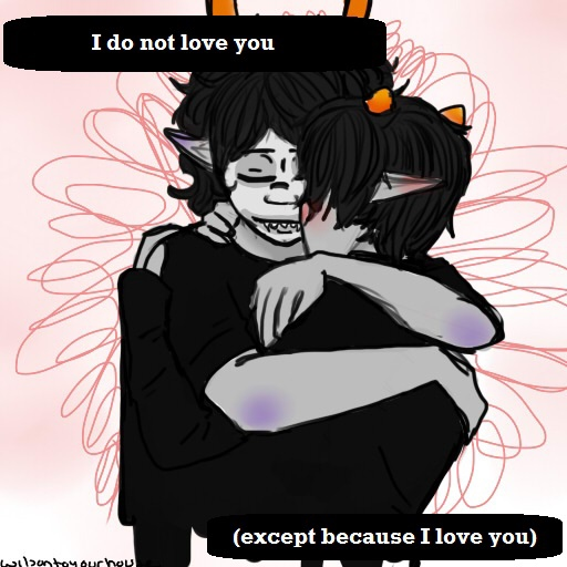 I do not love you (except because I love you)