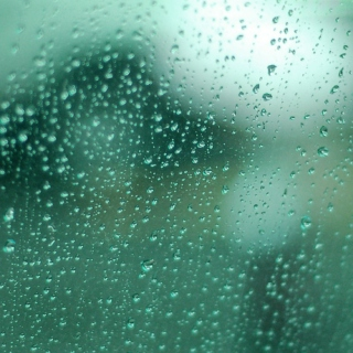 staring out a rainy car window