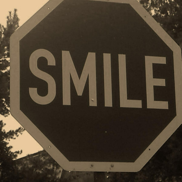 Smile the troubles and worries away
