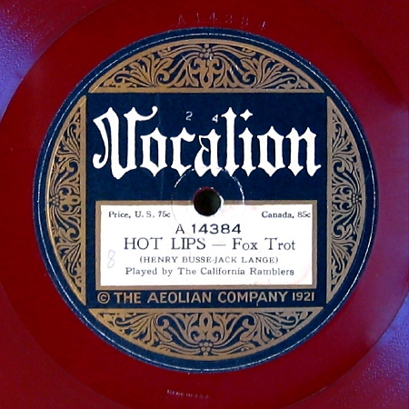 "Steph's Acoustic ""Red Wax"" Vocalions 1921-1923"