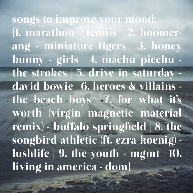 Songs to improve your mood