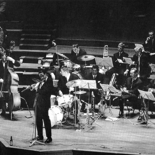 The orchestral remnants of an earlier era of big band.