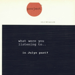 Project:What Were You Listening To.. In Julys Past?