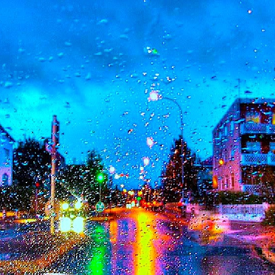 Gaze Beyond The Rain Drenched Streets