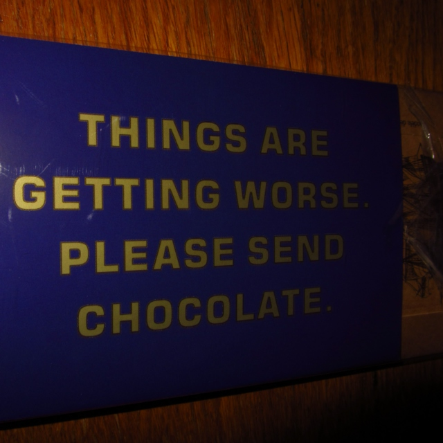 Save the earth. It's the only one with chocolate.