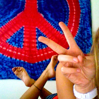 nothin but peace and love, peace and love.