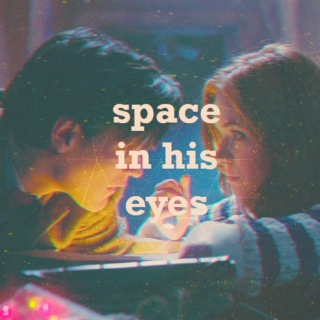 space in his eyes