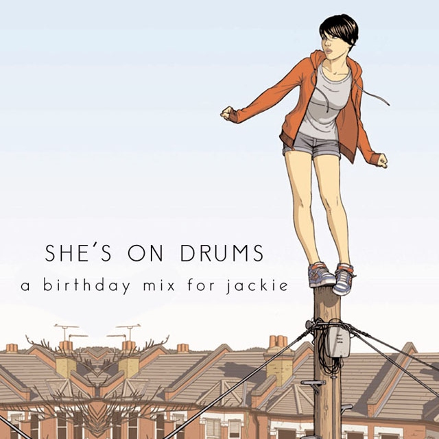 SHE'S ON DRUMS Illustration by Jamie McKelvie