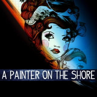 a painter on the shore