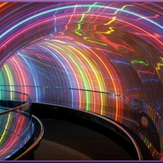 Psychedelic trip through time in the rainbow flavored time machine