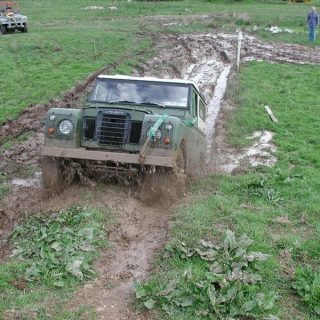 Driving through mud