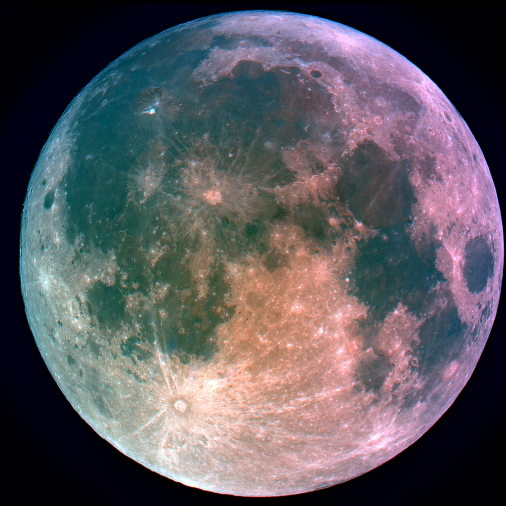 Image result for false color moon