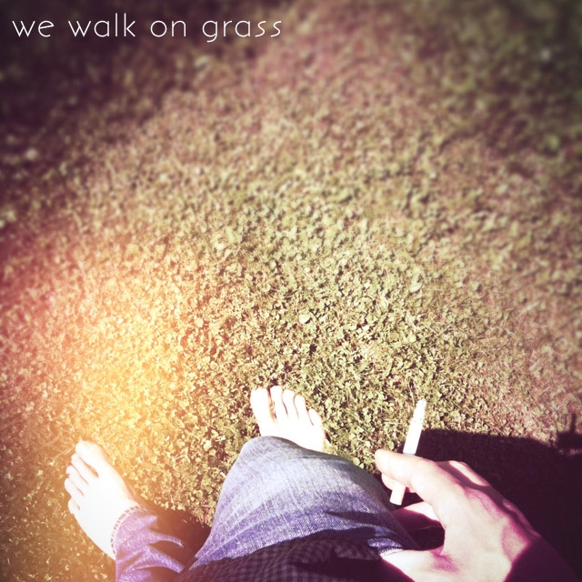 we walk on grass