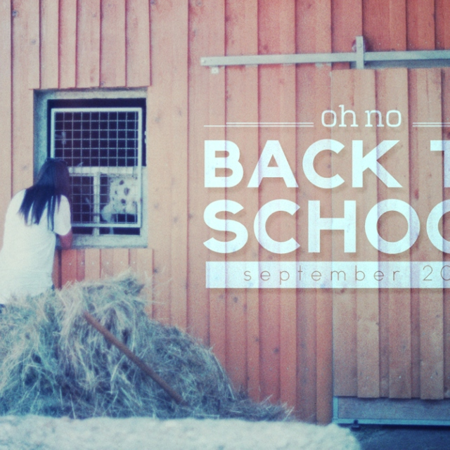 Oh no! Back to school